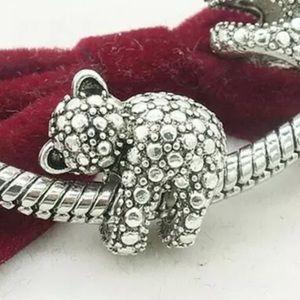 NEW•Silver Textured Koala DIY charm/bead